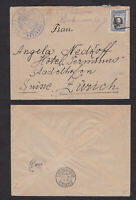Bulgaria 1913 Turkey Occupation Cover to Switzerland