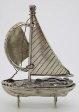 Vintage Solid Silver Italian Made Sailing Ship Miniature, Figurine, Hallmarked