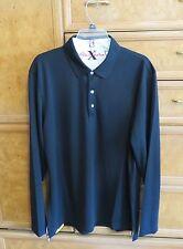 Men's Robert Graham X collection long sleeve golf shirt black size XL NWT $178