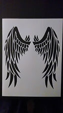 "Devil Angel Bird Wings Wing 8.5"" x 11"" Custom Stencil FAST FREE SHIPPING"