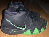 Nike Kyrie 4 Black Halloween Green Boys Size 6Y Basketball Shoes AA2897-012