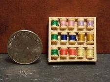 Dollhouse Miniature Sewing Thread Spools Box 1:12 Inch Scale F58 Dollys Gallery