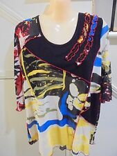 QIOR LABEL NWOT SIZE M 14 STUNNING MULTI COLOURED LINED TOP