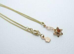 "Clogau Gold, 9ct Yellow & Rose Gold Daffodil Pendant & 18"" Chain"