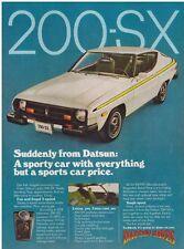 Original 1977 Datsun 200-SX Vintage Print Ad