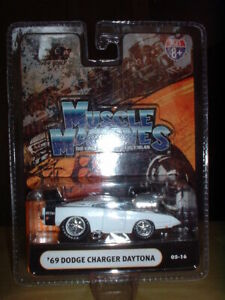 1/64 Muscle Machines   69 Dodge Charger Daytona   White & Black