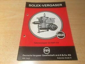 Orig. Handbuch für Solex Fallstromvergaser Typ 32 PDSIT - 2/3