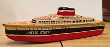 Metal Toy United States Ocean Liner Ship Model with Wheels; Price Reduced