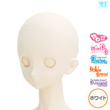Volks Dollfie Dream Option Head DDH-06 without Makeup Eyehole Closed White Skin