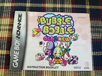 Bubble Bobble Old & New - Authentic - Nintendo Game Boy Advance - Manual Only!