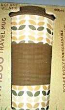 Eco Friendly Biodegradable Travel Mug Coffee Cup 400ml Reusable Bamboo