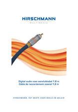 OUTLET Hirschmann Cable de audio RCA coaxial de 1,8 metros, para señal digital