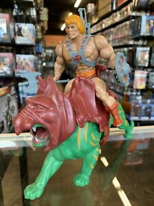 1981 He-man & Battle Cat Masters of the Universe Vintage Lot Taiwan Complete 1