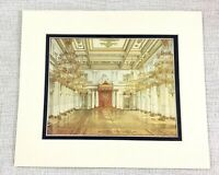 1983 Vintage Print The Romanov Royal Throne Room Palace Interior Architecture