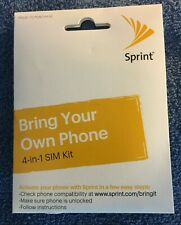 Sprint Byod 4-in-1 Sim Card Kit Bring Your Own Phone