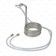 25' Stainless Steel Home Brewing Beer Immersion Wort Chiller Coil with Fittings