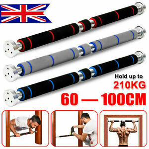 Pull Up Bar Chin Up Gym Bar Door Home Exercise Workout Training Adjustable