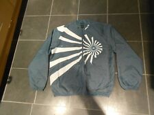 ADIDAS JACKET , SZ L ,  IN GOOD CONDITION . A BLUEY GREY IN COLOUR