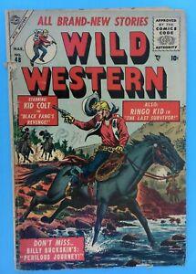 1955 Atlas/Marvel WILD WESTERN Comic #48 -Kid Colt, Ringo Kid - Williamson, VG-
