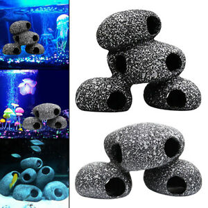Ceramics Aquarium Cave Rock House Fish Tank Shrimp Play Cichlid Rest Stone