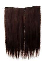 Postiche large Extensions cheveux 5 Clips lisse Braun Brun acajou 45cm L30173-33