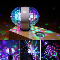 E27 5W Double-Headed LED Ball Stage Light Bulb Rotating Lamp KTV Party Disco