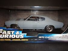 1:18 Ertl FAST & FURIOUS 4  1970 CHEVY CHEVELLE SS GREY
