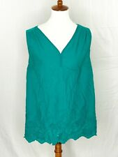 Isabel Maternity by Ingrid and Isabel Green top eyelet embroidered emerald L