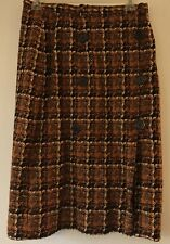 Vintage KORET of CALIFORNIA Brown Plaid Wool Blend Skirt