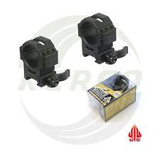 Med-Profile UTG Quick Detach QD 30mm Weaver Picatinny Rail Scope Rings RQ2W3156