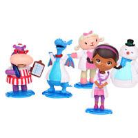 Doc Mcstuffins Check Up Time Dottie 5PCS Action Figure Cute Doll Cake Topper Toy