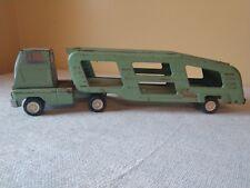 TONKA VINTAGE SEMI TRUCK CAR CARRIER TRANSPORT GREEN PRESSED STEEL 1960S