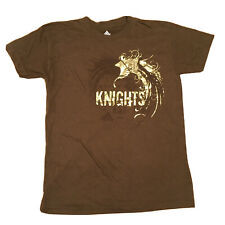 Vintage Adidas t shirt Women's Small Brown Gold Knights Logo Rare