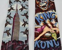 2 KING KONG Gorilla Men's Silk Neck Ties American Film Classics 1992 RKO
