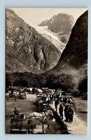 LOEN, NORWAY - fra Kjendalen - HEST OG VOGN FEST - 1900s NORMANN FOTO RPPC - L2