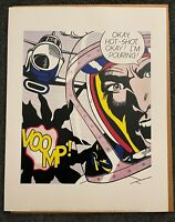 Roy Lichtenstein Okay, Hot Shot! POP ART 11x14 Lithograph Portfolio Print