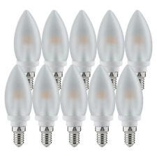 10 x Paulmann LED Leuchtmittel Kerze 4W / 40W E14 matt Satin warmweiß a UVP 149€