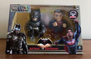 *NEW* Batman v Superman Heavy Metal Die Cast Action Figure Set  2016 Jada Toys