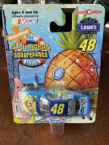 2004 Jimmie Johnson SpongeBob Lowes car 1:64 TC Team Caliber Sponge Bob
