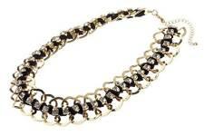 Catwalk DESIGNER 14k Gold Pltd Crystal Braided Knotted Statement Collar Necklace