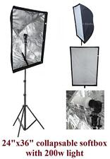 200w Photography Studio Continuous Softbox Lighting Lite Stand Diffuser Kit