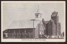 Postcard SIOUX CITY Nebraska/NE  Catholic Church & School view 1920's?