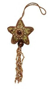 Sparkly Decorative Beaded Star Hanging Ornaments