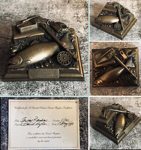 David Hughes Limited Edition Fly Fishing Bronze Trophy Sculpture Spring Rainbow