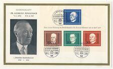 BRD Block 4 FDC Gedenkblatt Adenauer