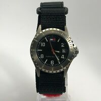 Tommy Hilfiger Mens F90164 Nylon Strap Date Indicator Quartz Analog Wristwatch