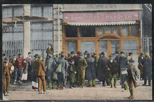 Salonique Greece 1918 ריסטוראן ברסאנו משה Stor front Hebrew judaica jewish