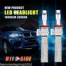 Pair Cree H11 180W LED Headlights Kit Low Beam Bulbs 4X4 Car Driving White H8 H9