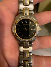 BULOVA ACCUTRON 28E05 SWISS MADE 44 REAL DIAMONDS MEN'S CASUAL USED ONLY 2 Times