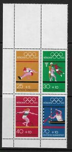 GERMANY - 1972 - OLYMPIC GAMES - SET 4V - FROM SHEET - UM / MNH